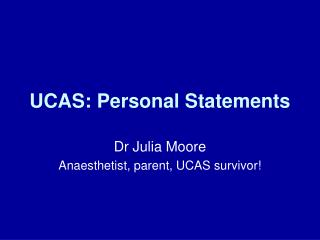 UCAS: Personal Statements