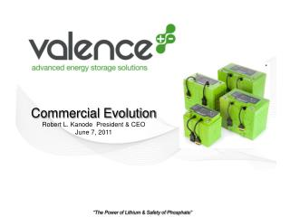Commercial Evolution Robert L. Kanode  President  CEO June 7, 2011