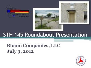 STH 145 Roundabout Presentation