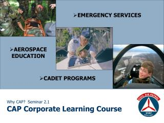Why CAP  Seminar 2.1 CAP Corporate Learning Course