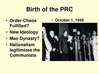 Birth of the PRC