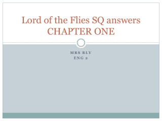 Lord of the Flies Analysis of Chapter 1:  The Sound of the Shell