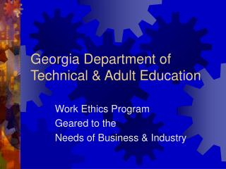 Georgia Department of Technical  Adult Education
