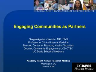 Engaging Communities as Partners