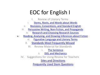 EOC for English I