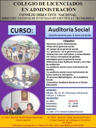COLEGIO DE CONTADORES  PUBLICOS DE LIMA Comit  de Auditoria.