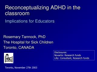 Reconceptualizing ADHD in the classroom   Implications for Educators