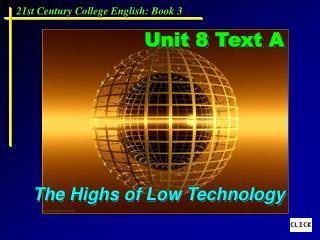Unit 8 Text A