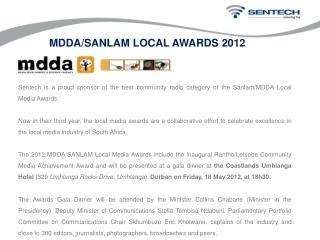 Sentech is a proud sponsor of the best community radio category of the Sanlam