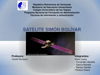 Satélite Simón Bolivar
