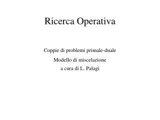 Ricerca Operativa