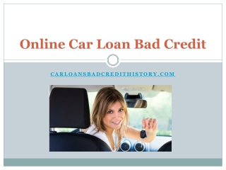 Get car loan bad credit