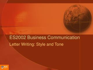ES2002 Business Communication