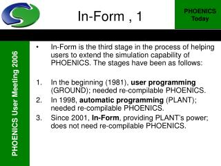 In-Form , 1