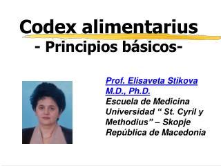 Codex alimentarius - Principios b sicos-