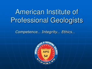 American Institute of Professional Geologists