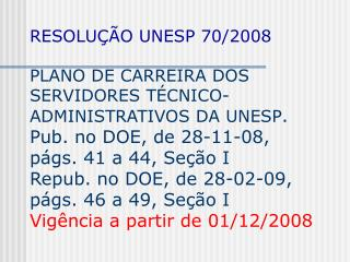 RESOLU  O UNESP 70