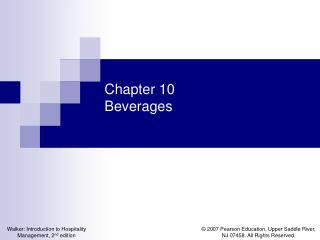 Chapter 10 Beverages