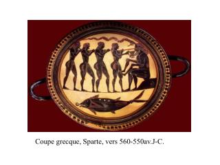 Coupe grecque, Sparte, vers 560-550av.J-C.