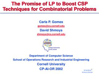 The Promise of LP to Boost CSP  Techniques for Combinatorial Problems