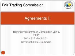 Agreements II