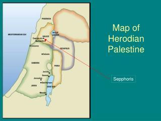 Map of  Herodian  Palestine