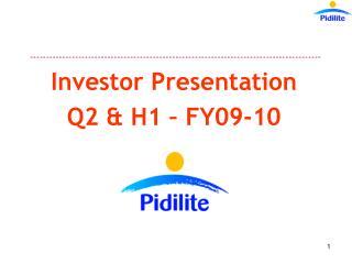 Investor Presentation Q2  H1   FY09-10