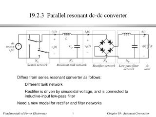 19.2.3  Parallel resonant dc-dc converter
