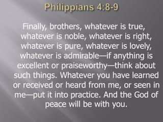 Philippians 4:8-9