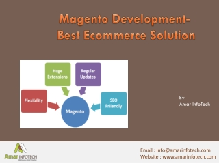 Magento Development Best Ecommerce Solution