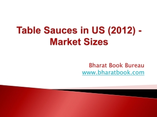 Table Sauces in US (2012) - Market Sizes