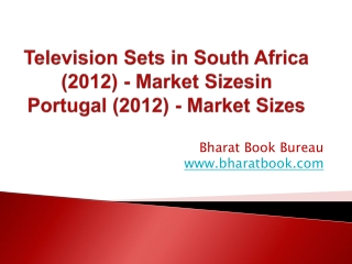 Television Sets in South Africa (2012) - Market Sizes