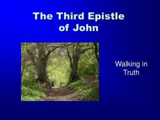 The Third Epistle of John
