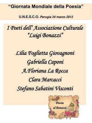 Poesia  al Bonazzi