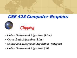 CSE 423 Computer Graphics