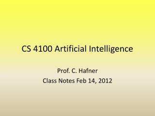 CS 4100 Artificial Intelligence