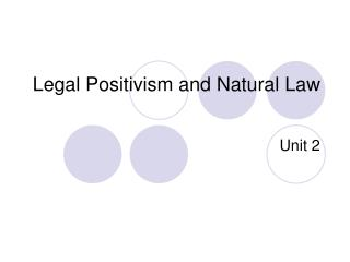 Legal Positivism and Natural Law