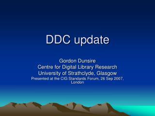 DDC update