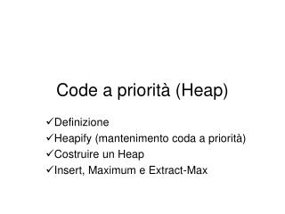 Code a priorit  Heap