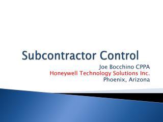 Subcontractor Control