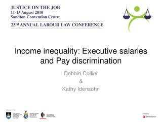 Income inequality: Executive salaries and Pay discrimination