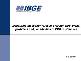 Measuring the labour force in Brazilian rural areas: problems and possibilities of IBGE s statistics