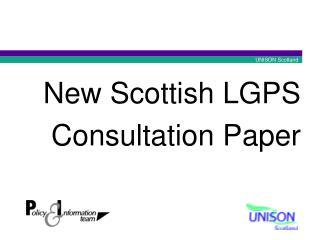 New Scottish LGPS Consultation Paper