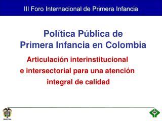 III Foro Internacional de Primera Infancia