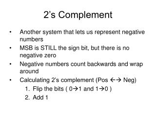 2 s Complement