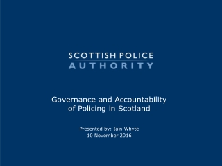 Police and Governance:  The Board