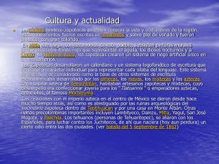 Cultura y actualidad