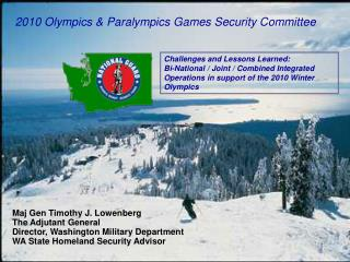 2010 Olympics  Paralympics Games Security Committee