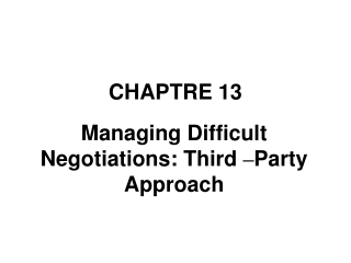 Preparing Parties to Effectively  Participate In Mediation