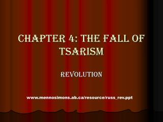 Chapter 4: The Fall of Tsarism